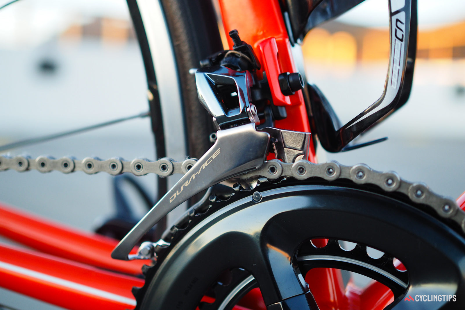 Shimano's previous-generation Dura-Ace front derailleur design worked extremely well, but could sometimes be very finicky to set up. The new one takes more time to install and adjust, but is far more tolerant of different cable entry angles.
