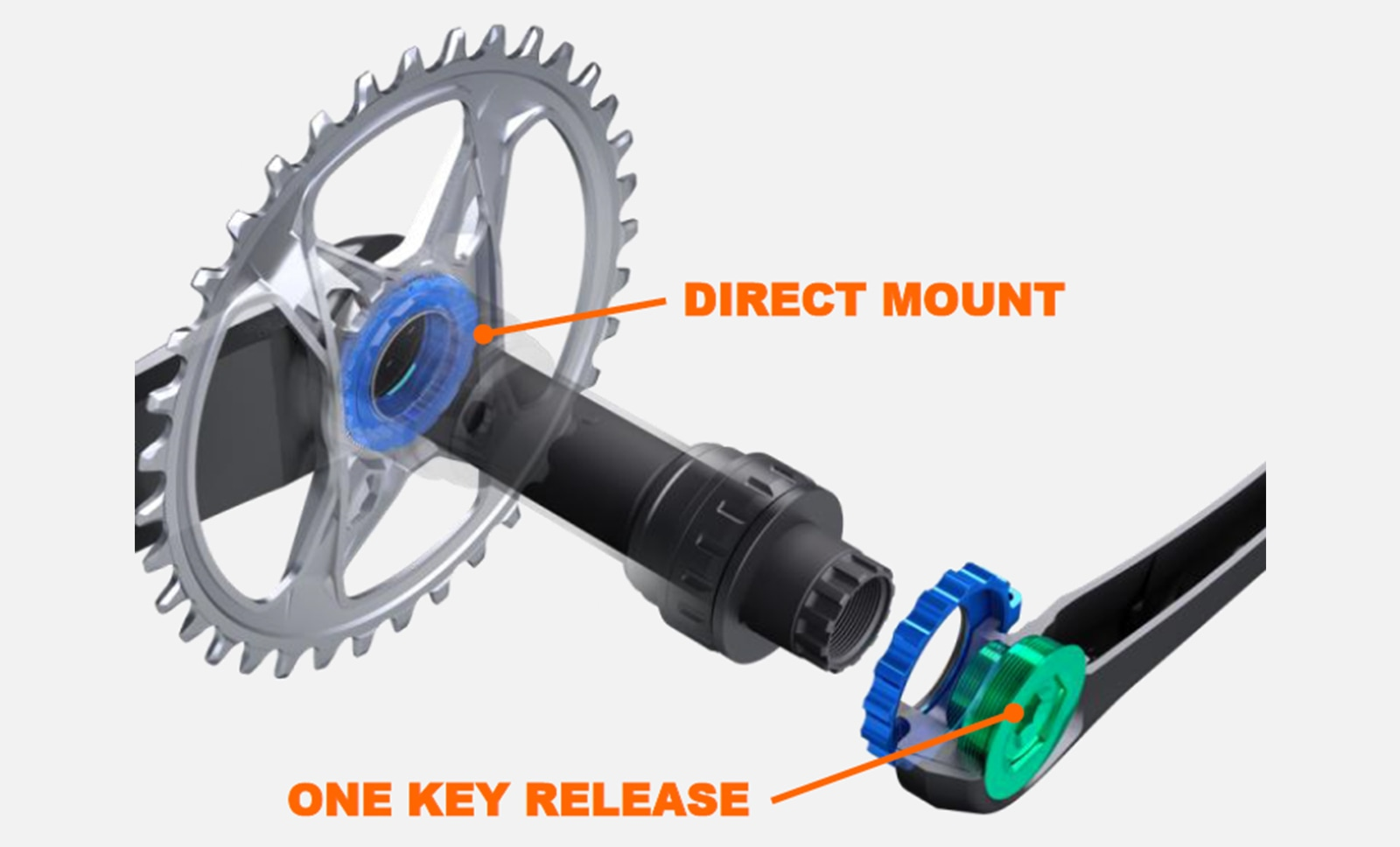Shimano XTR M9100 direct mount chainring