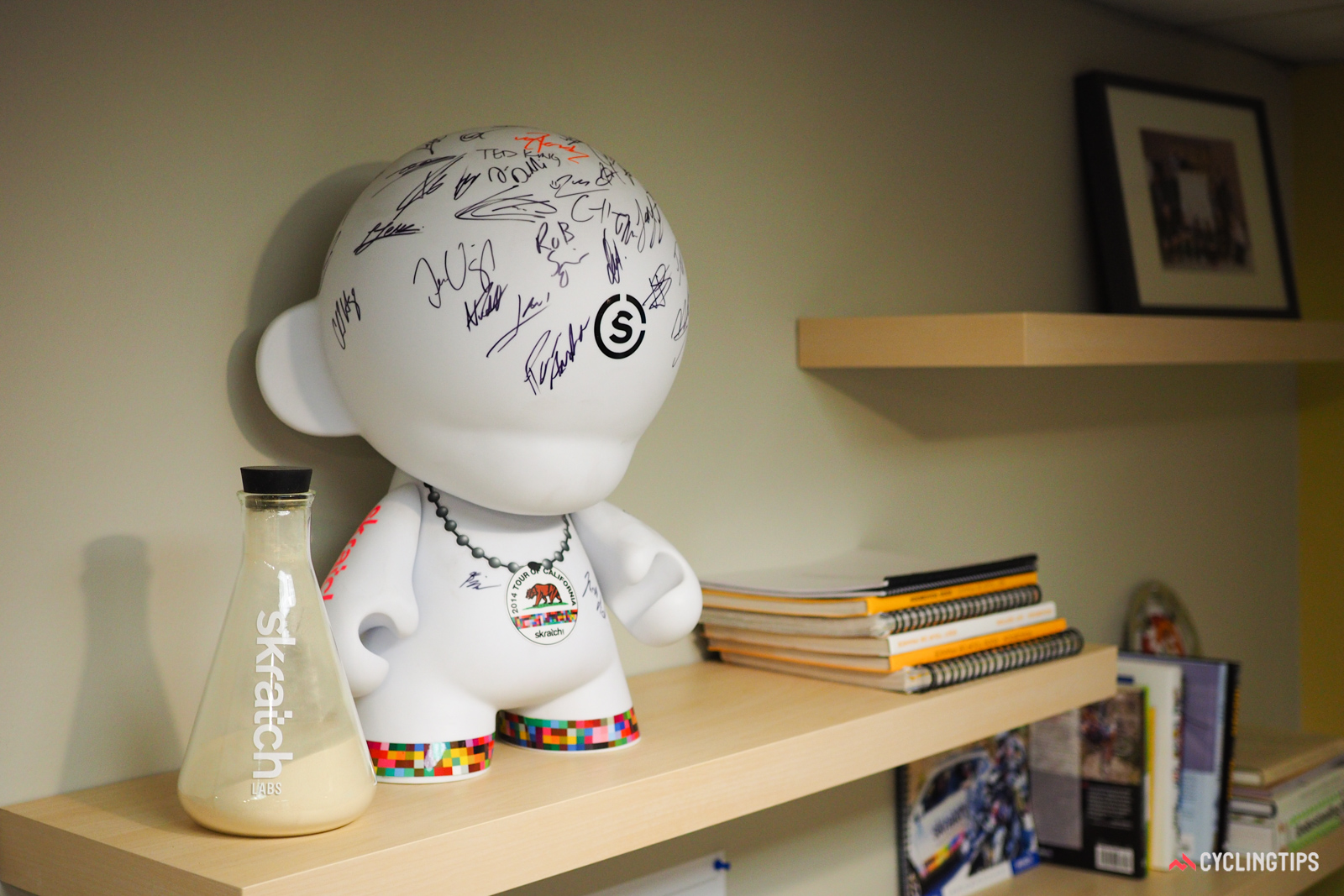 The Skratch Labs office in Boulder, Colorado bears all sorts of whimsical decorations. Photo: James Huang.