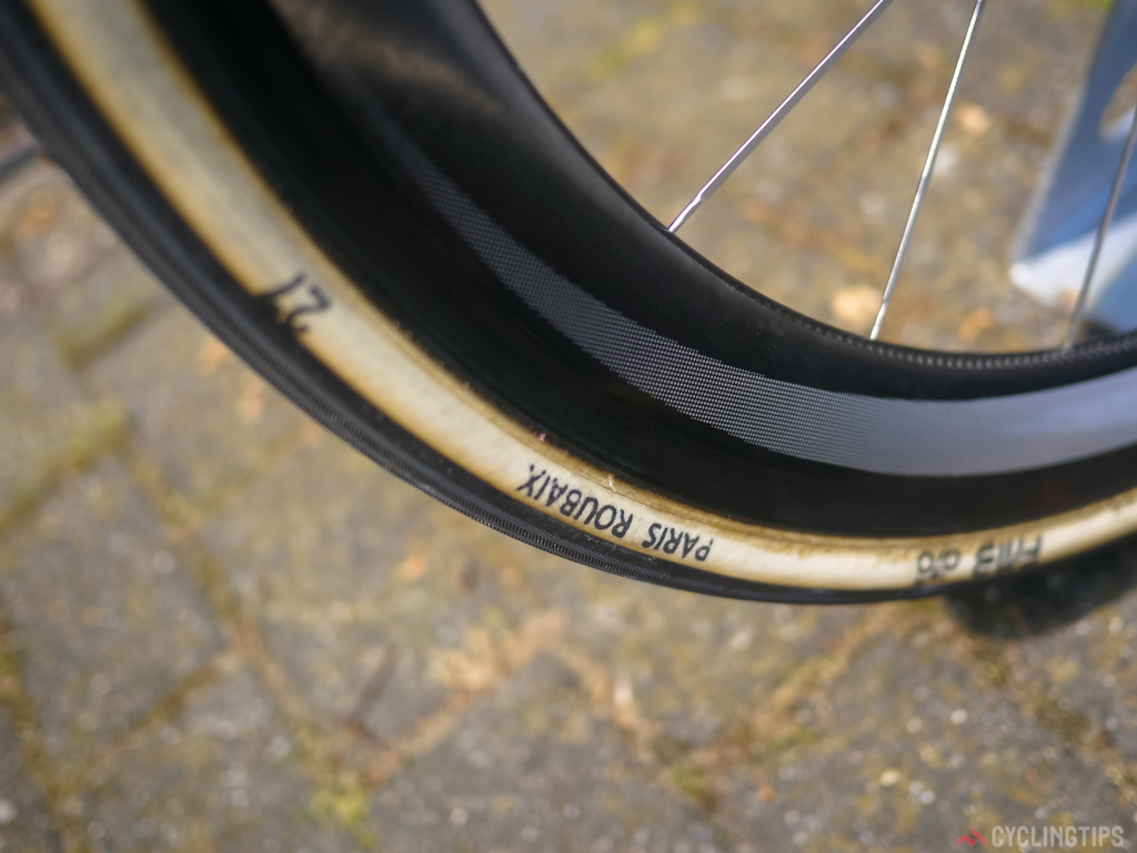 FMB tubulars have been a firm favourite in the peloton for many years now, the handmade french tubulars are one item that many teams use for the cobbles that deviates from the usual sponsored products. In the case of Sky they use Veloflex throughout the season but are not officially sponsored by them so there is no conflict of interest when using products like the FMBs.
