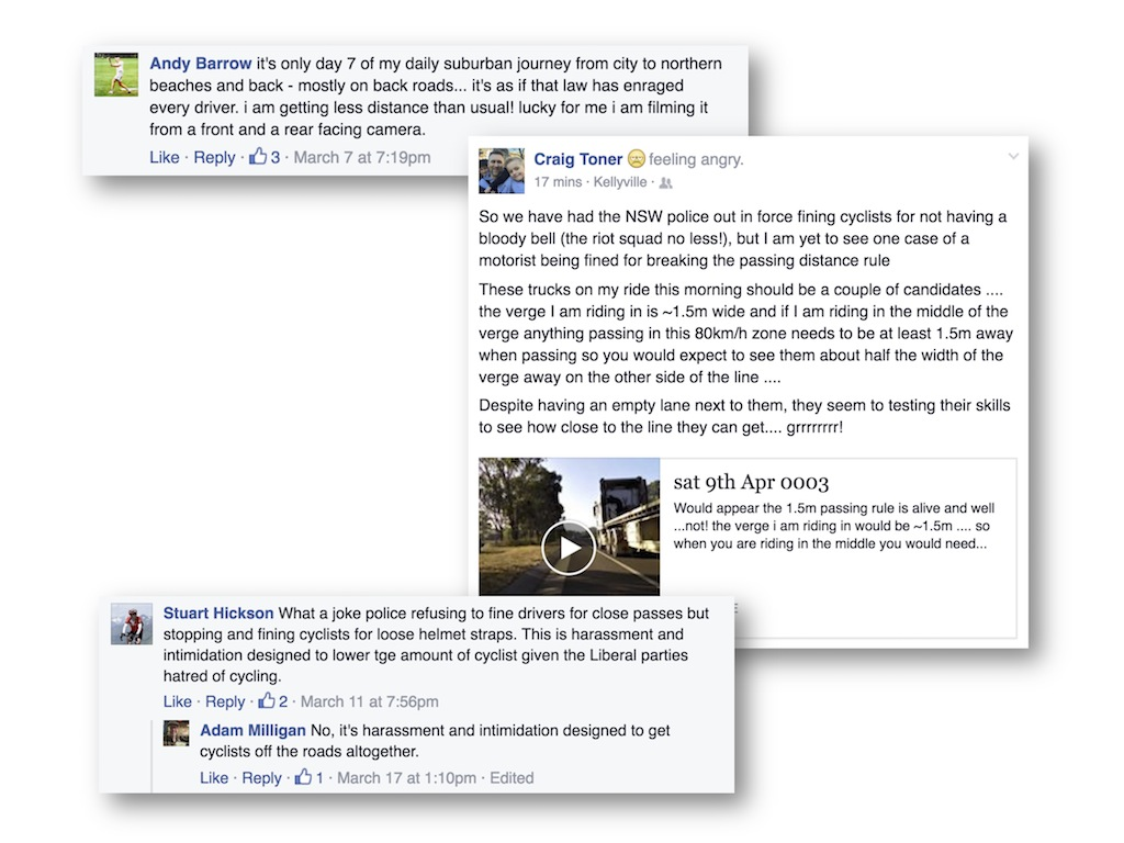 Many cyclists have taken to social media to voice their opinions about the new cycling laws.