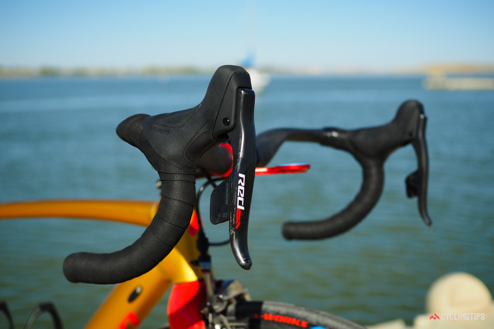 Specialized supplied CyclingTips with a custom-built version of its Allez DSW SL frameset, including a SRAM Red eTap wireless electronic groupset.