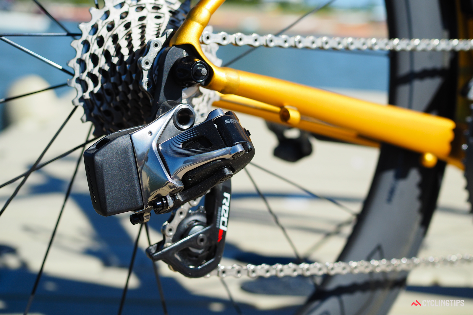 The SRAM Red eTap wireless electronic group continues to impress with crisp and reliable shift performance. It'd be nice if multiple shifts were executed a little more quickly, though.