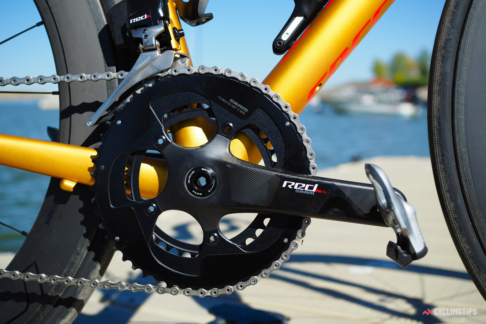 """So-called """"mid-compact"""" 52/36T chainrings have fast become the norm in recent years."""