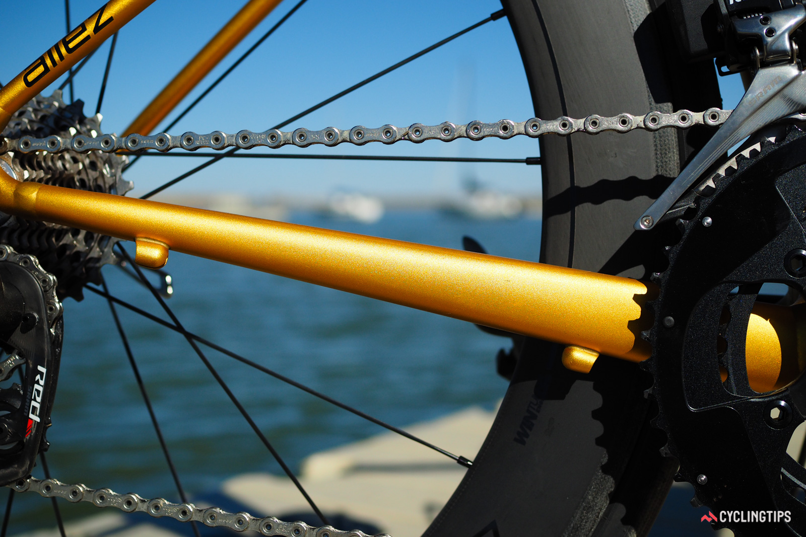 ...but there are still vestigial housing stops on both the chainstay and behind the seat tube.