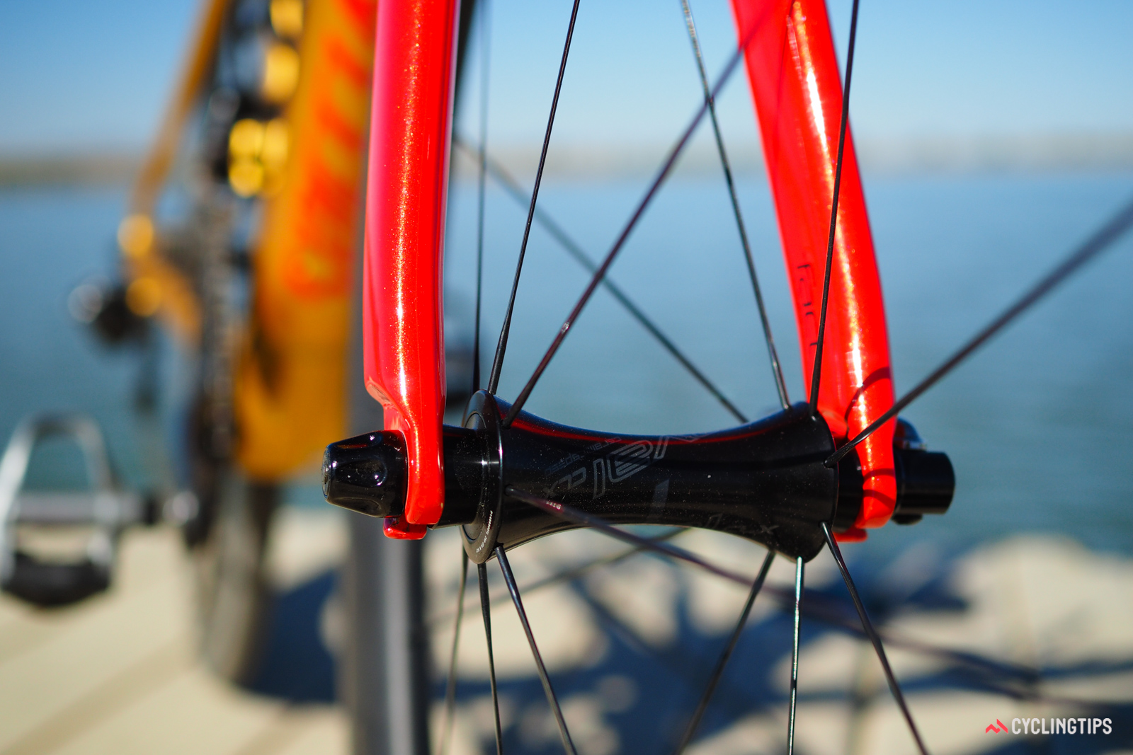 The shape of the Roval hubs was penned by Specialized industrial designer Brian Szykowny, who also painted a round of track-prepped Allez DSW SL frames for a round of the Red Hook Criterium.