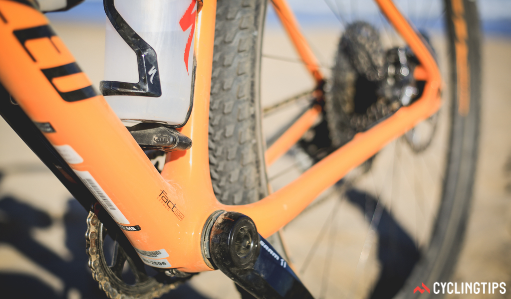 A large pressfit bottom bracket gives plenty of material area to create an impressively stiff pedalling platform