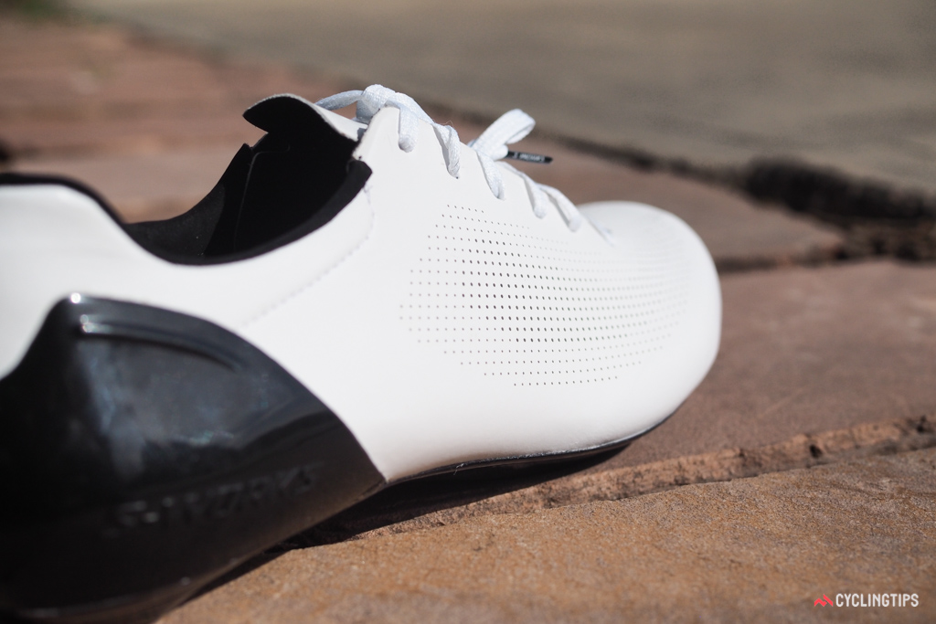 The upper doesn't have any traditional open mesh panels but the plethora of perforations does a great job of keeping your feet cool.