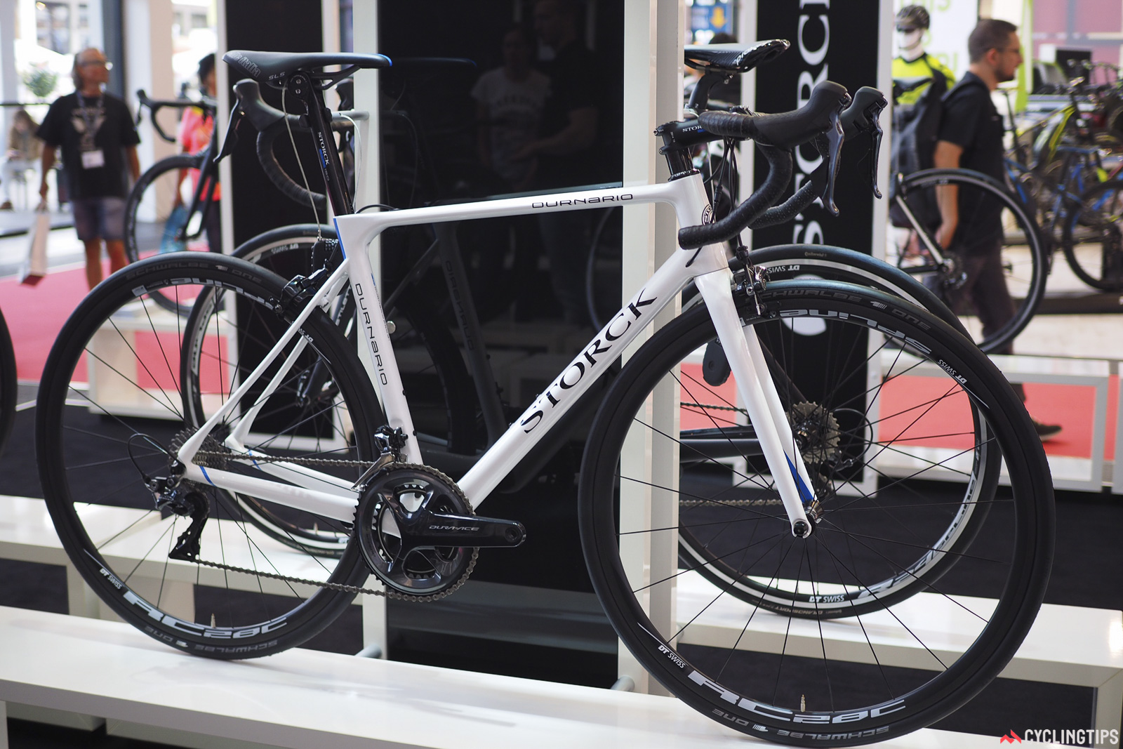 Also new from Storck is the Durnario endurance road model, built with flattened frame sections and room for 28mm-wide tires to smooth out the ride. Photo: James Huang.