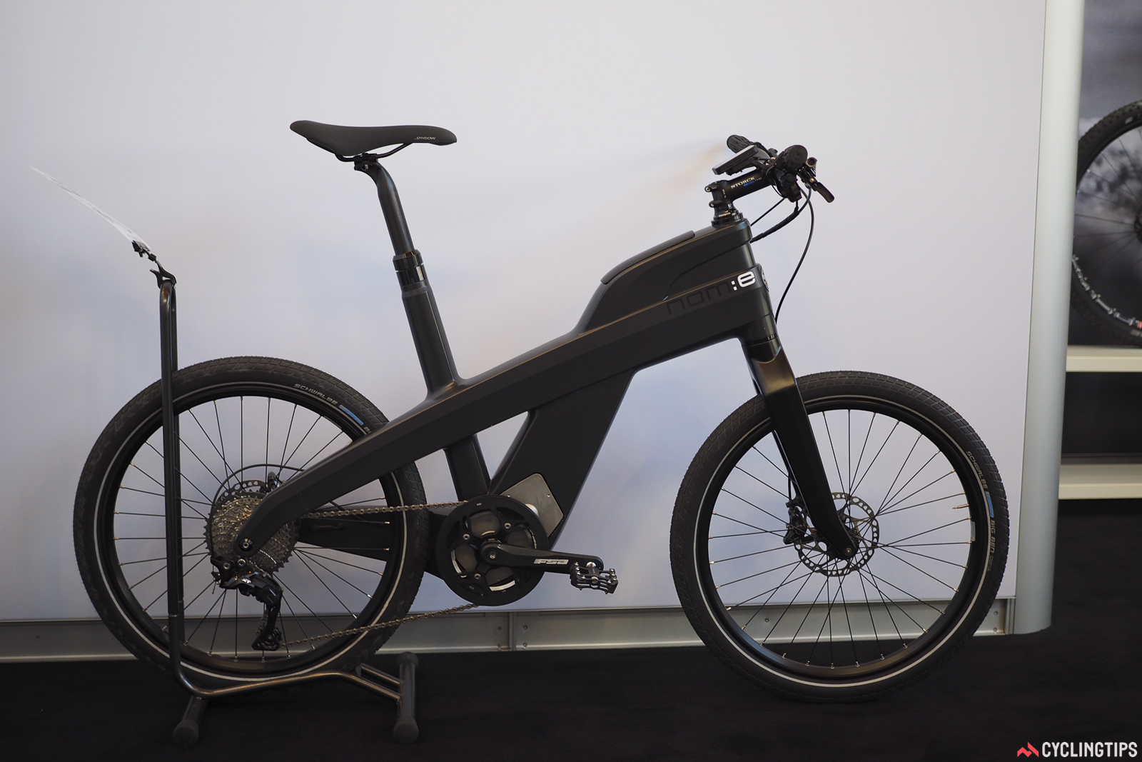 Storck has entered into a government funded study aimed at bringing carbon bicycle manufacturing back to the EU. Along with manufacturing partner Rehau AG and the Dresden University of Technology. This 24in-wheeled urban e-bike is the first fruit of the group's labors, but more is definitely pending. Photo: James Huang.