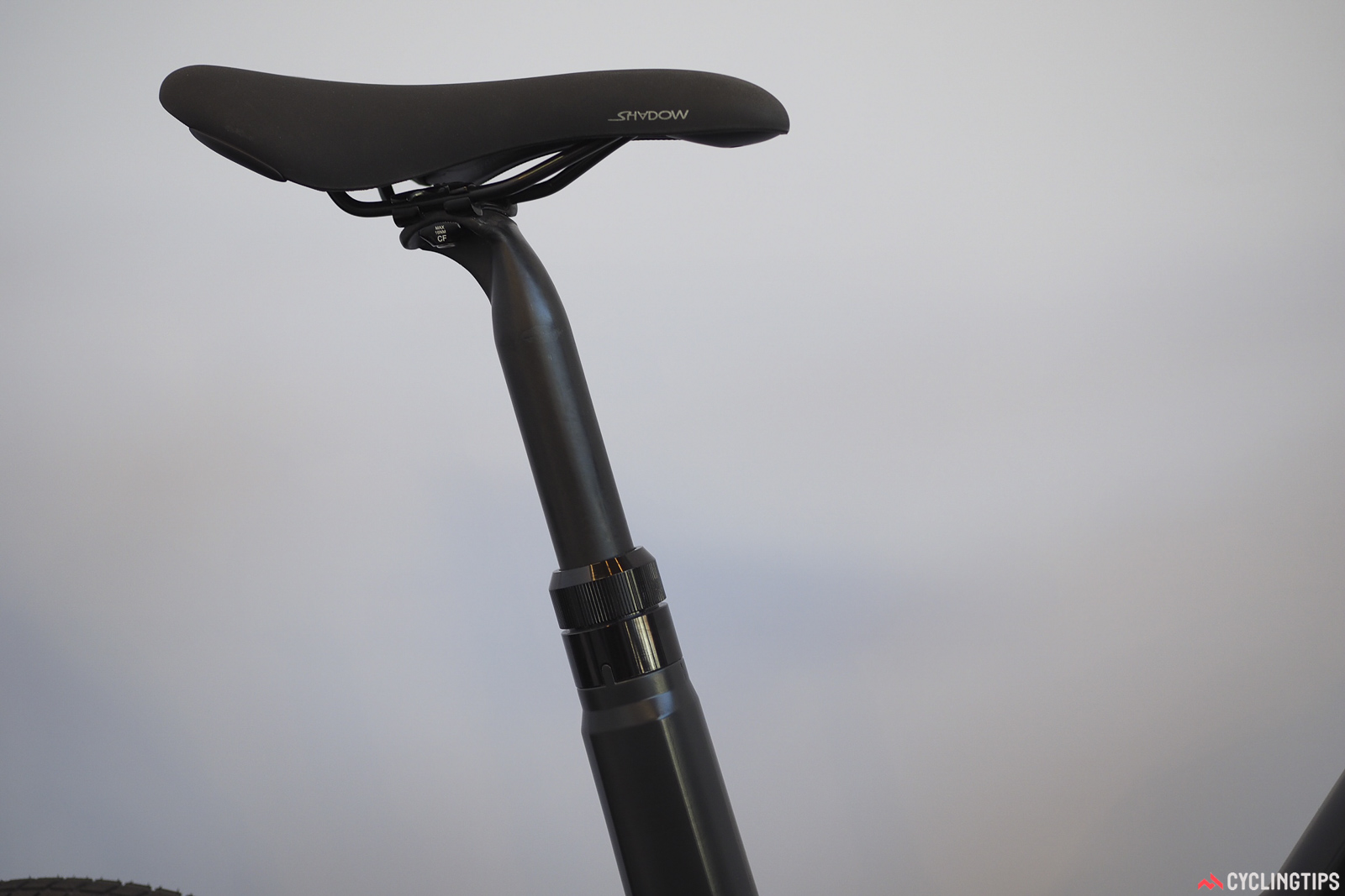 There are plenty of neat details, such as the collet-style seatpost clamp that doesn't require any post-molding slotting or cutting of the seat tube. Photo: James Huang.