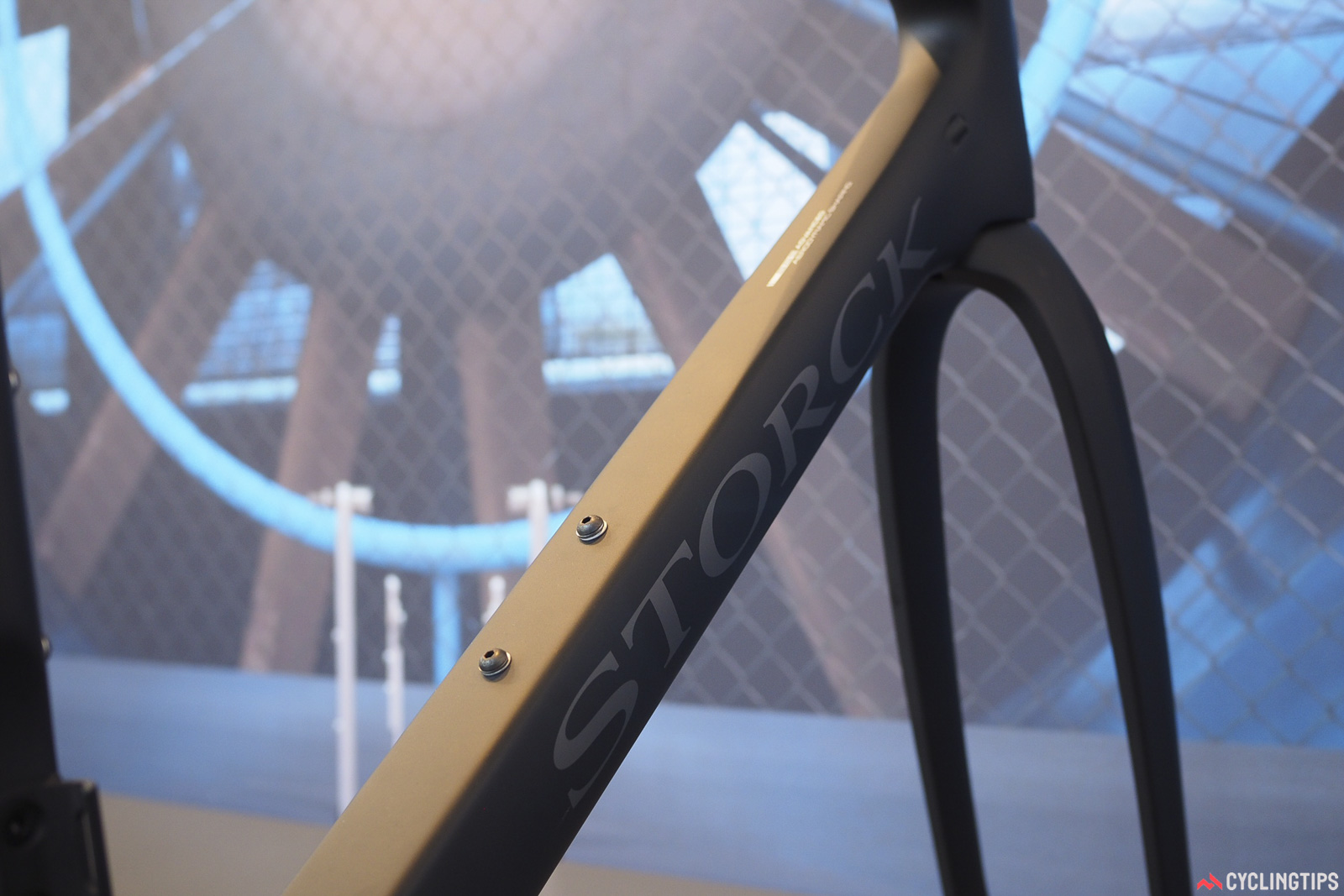 The third generation of Storck's flagship Fascenario frame now sports a more aerodynamically tuned shape with truncated airfoil profiles that supposedly maintain the label's storied stiffness characteristics. Photo: James Huang.