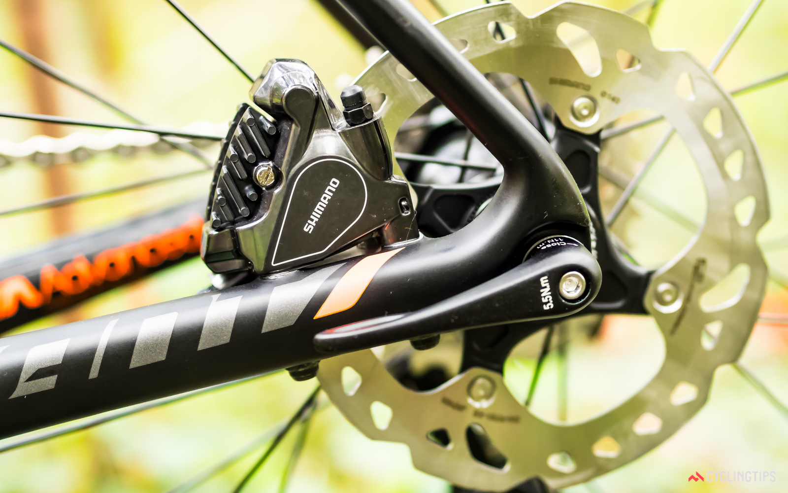 Flat-mount disc callipers are quickly becoming the standard for road disc bikes.
