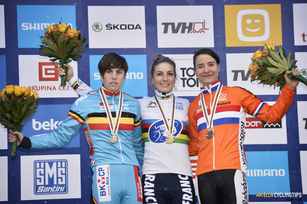 2015 UCI World Cyclocross Championships in Tabor, the closest Sanne Cant has come to winning the rainbow jersey.