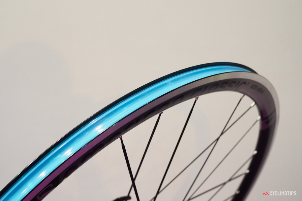 The new rim is 5mm wider internally but yet supposedly the same weight as before.