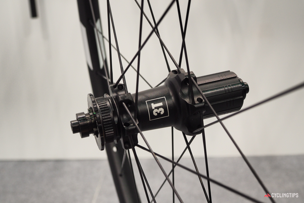 The versatile rear hub on 3T's Discus and Discus Plus wheels can be used with either quick-release or thru-axle fitments and are compatible with both Center Lock rotors and 11-speed cassettes, both of which are sometimes hard to find in existing mountain bike wheels of the same diameter.