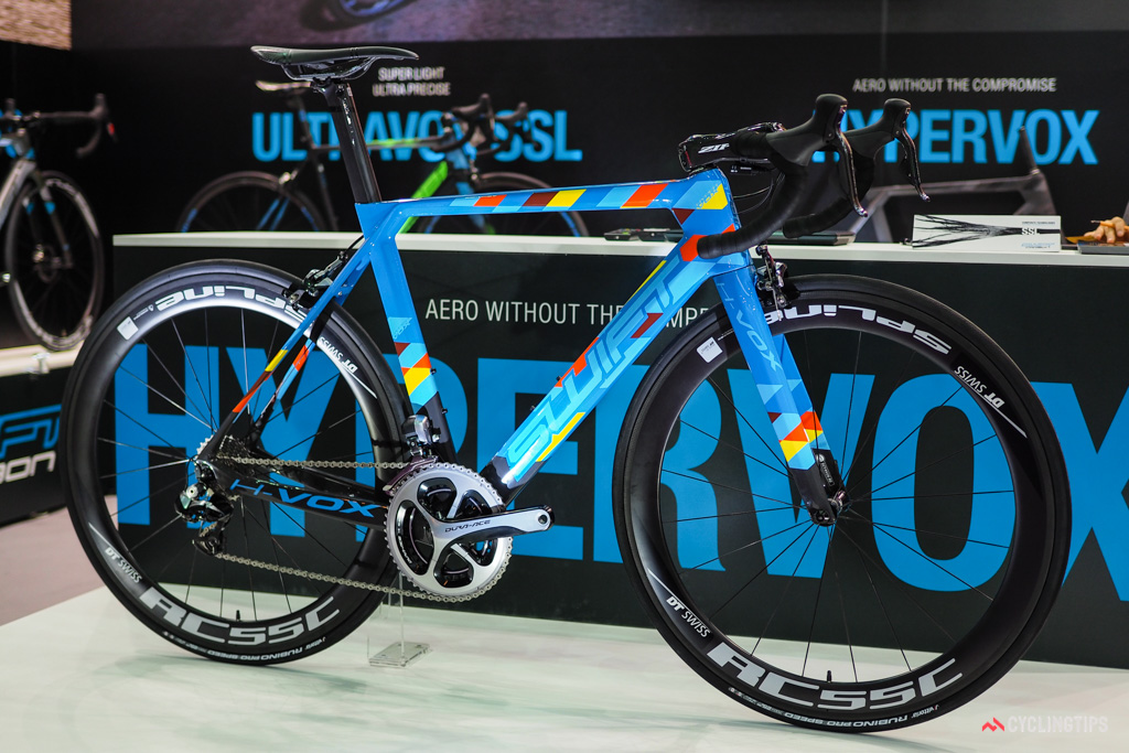 The SwiftCarbon Hypervox was introduced earlier this year at the Tour Down Under.