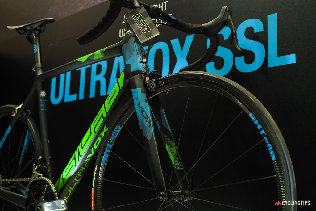 The ultra-premium spec of the bike on display in Taipei was just for show - at least for now.