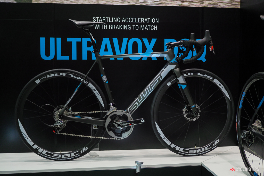 The new SwiftCarbon Ultravox DSQ is the company's first model with disc brakes.