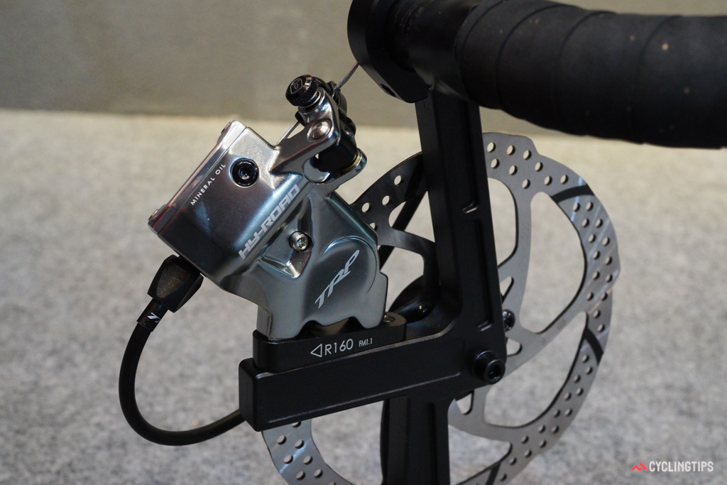 The TRP HY/RD will soon be available in a flat-mount fitment.