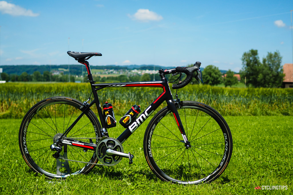 BMC doesn't typically provide any of its team riders with special-edition paintjobs or personalized features, with very few exceptions. On this team, it's all business.