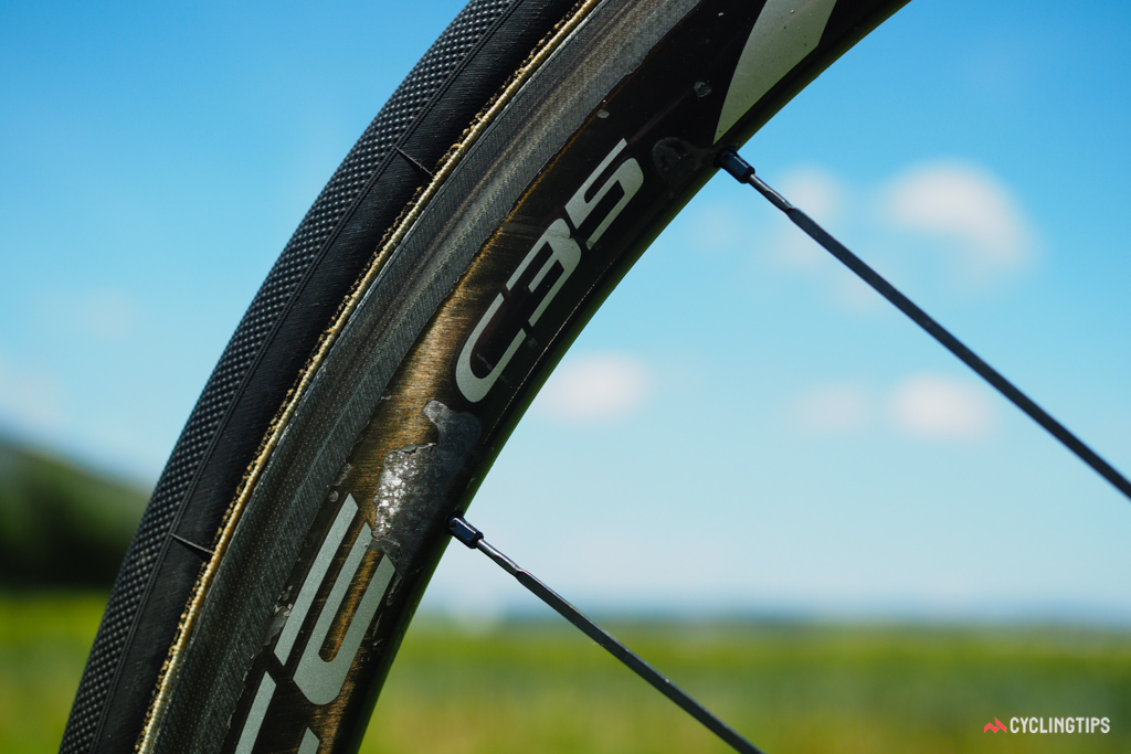 This particular set of Shimano C35 tubulars has seen quite a few miles.