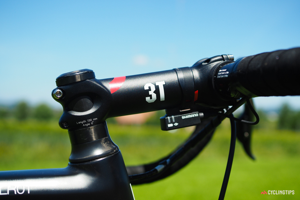 This stem is marked from the factory as a 130mm but allowed variances could yield differences of a few millimeters. BMC's unusually thorough measurement protocol reveals those discrepancies to ensure that every rider's bike always fits the same.