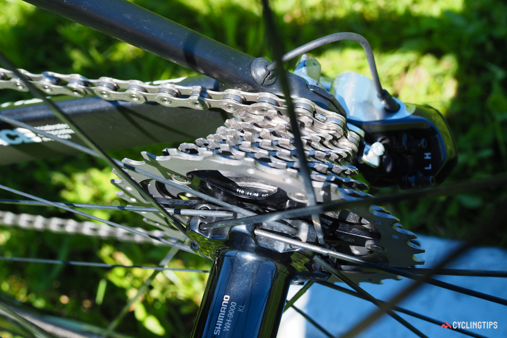 11-28T cassettes are becoming the norm in the pro peloton as they provide sufficient top-end speed with plenty of range.