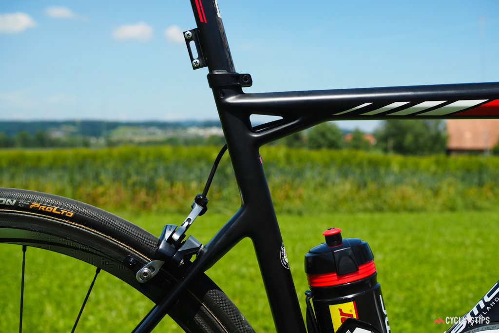 Even without the BMC logo, this distinctive seat cluster makes the frame instantly identifiable.