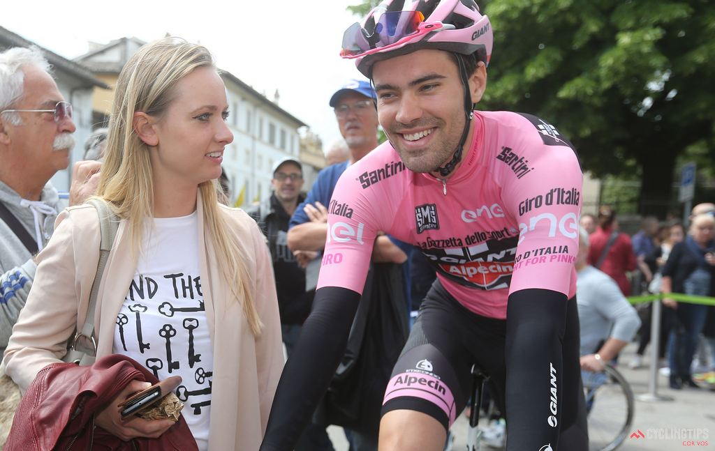 Dumoulin with his girlfriend Thanee.