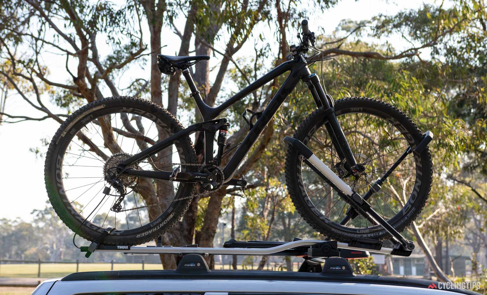Thule UpRide 599 rack review with bike