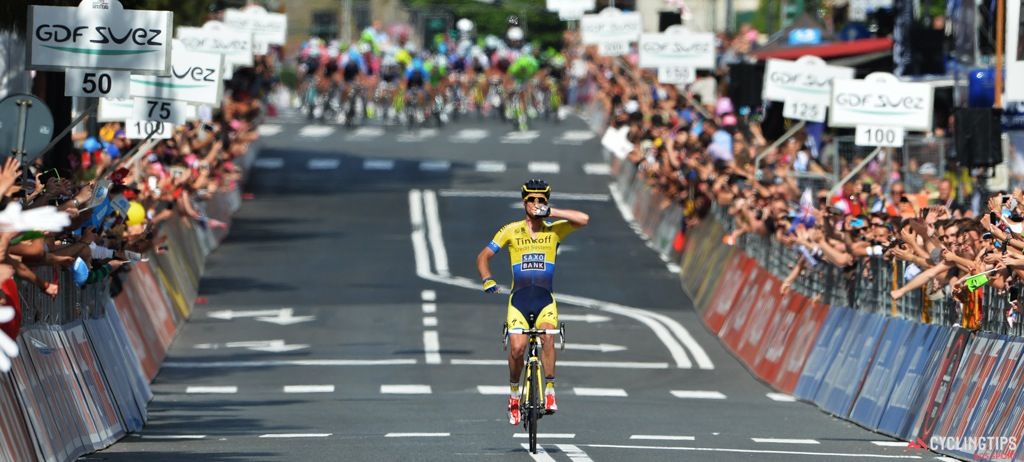 Michael Rogers made a daring escape on the final descent on stage 11 and was able to hold off the peloton.