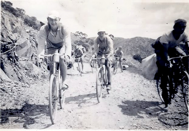 Riders in the 1949 Tour of Victoria take on a Mt. Hotham climb that's decidedly rougher than it is today.