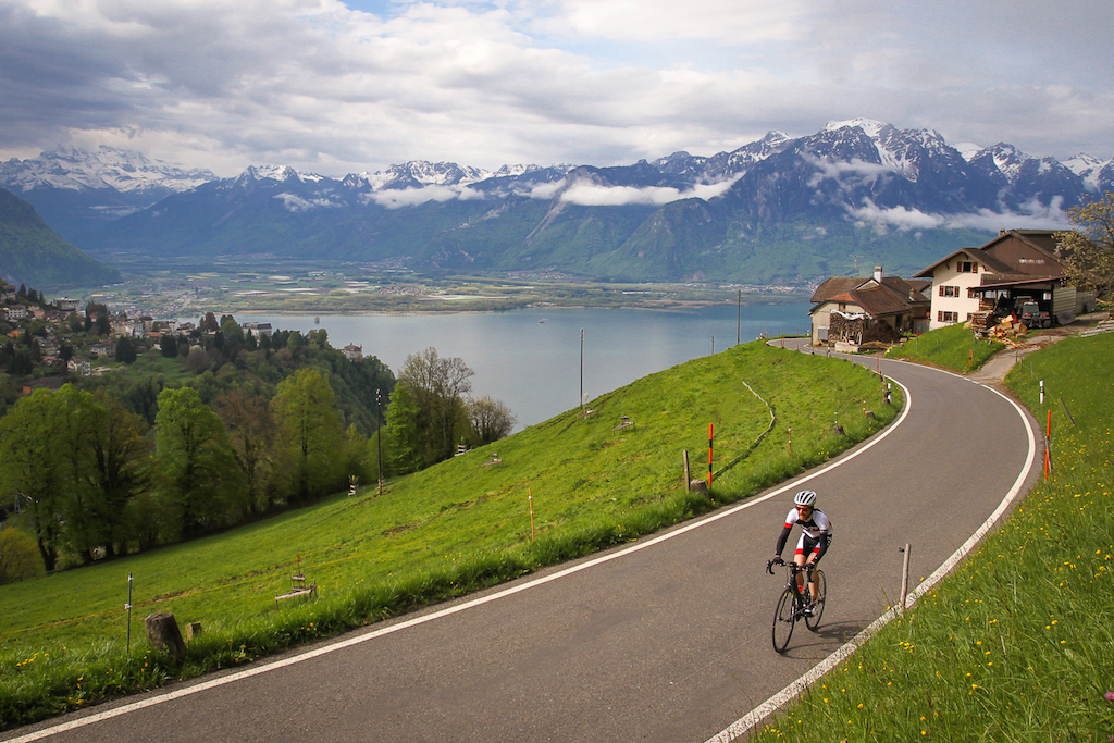 Training at home in the Swiss Alps
