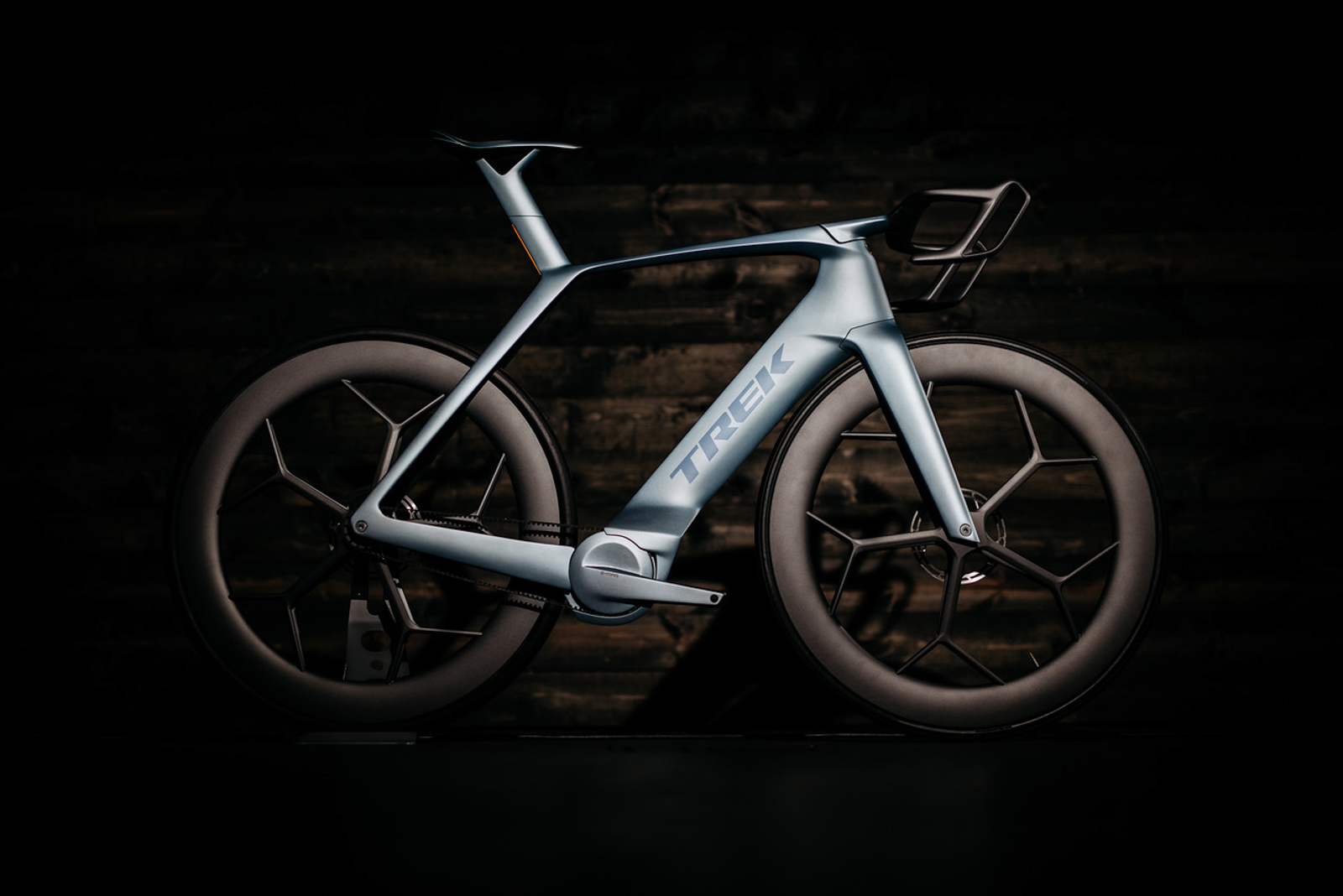 Trek's stunning 40th-anniversary concept bike bears strong familial resemblence to the current Madone. Photo: Jeff Kennel.