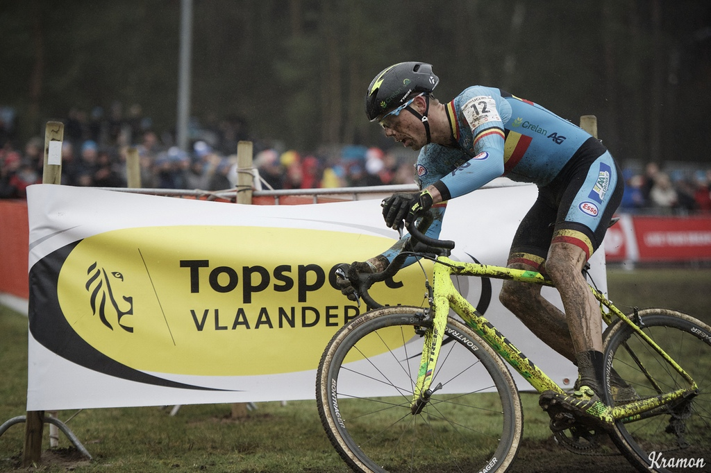 Sven Nys rode on the new Dugast tubeless tubulars as the CX Worlds in Zolder, Belgium.