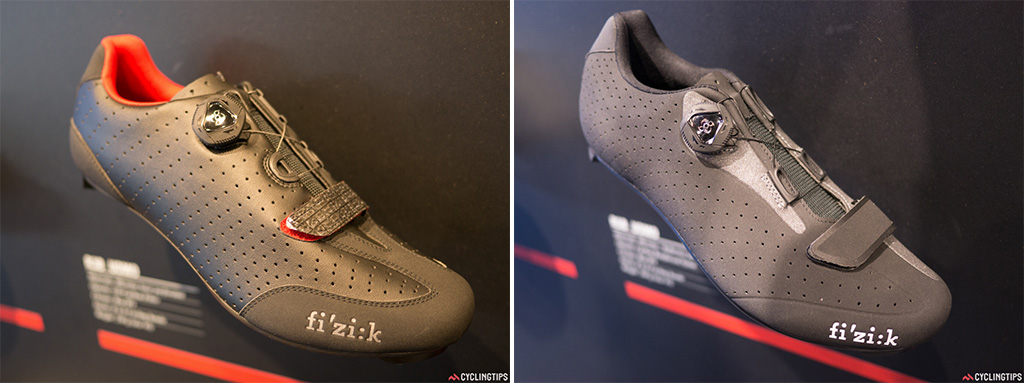 Fizik had a bunch of new road shoes on display to compliment their new saddle colours.