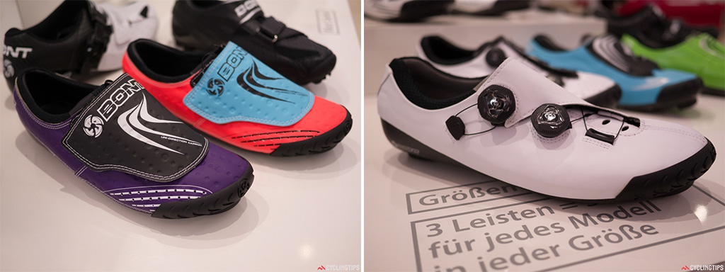 Bright colours weren't just reserved for the bikes this year at Eurobike. Bont had some stunning combos on display. Bont also had a few unfinished new models on the stand.