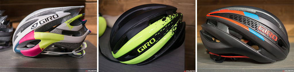 Seen at this year's Tour de France, the new Giro Synthe is a claimed 13% lighter than an Air Attack and 16% faster than an Aeon. It's a great-looking lid and this yellow and black splash colourway is available in the Empire shoe line too.