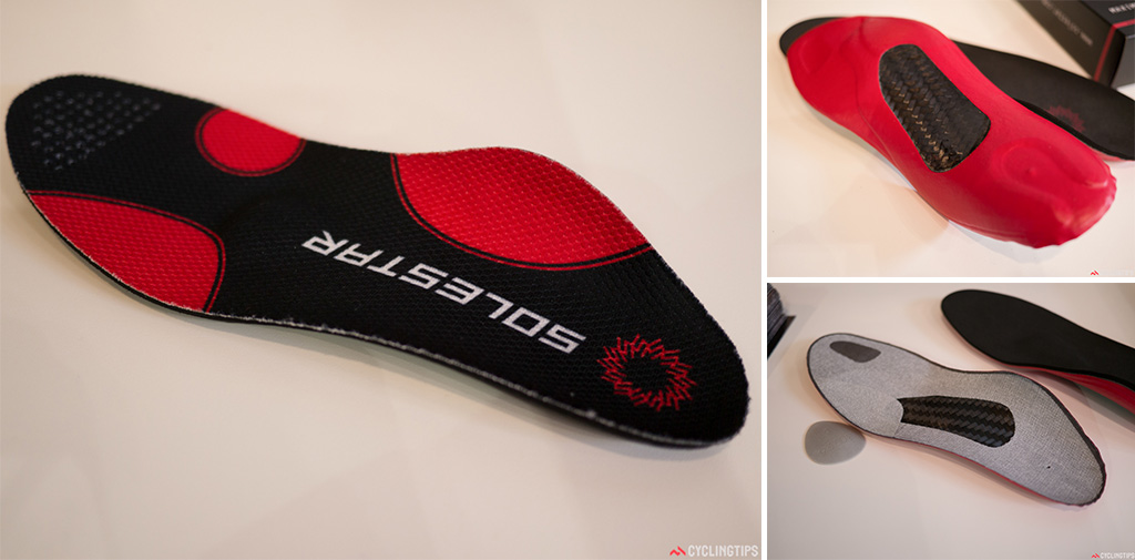 Amongst the many pros usng Solestar are Andre Greipel, Gerald Ciolek, Maxime Monfort, Christian Knees and Robert Wagner. The multi-layered innersole is designed to help with power transfer, aide stability and comfort by bringing the foot in to its optimal neutral position.