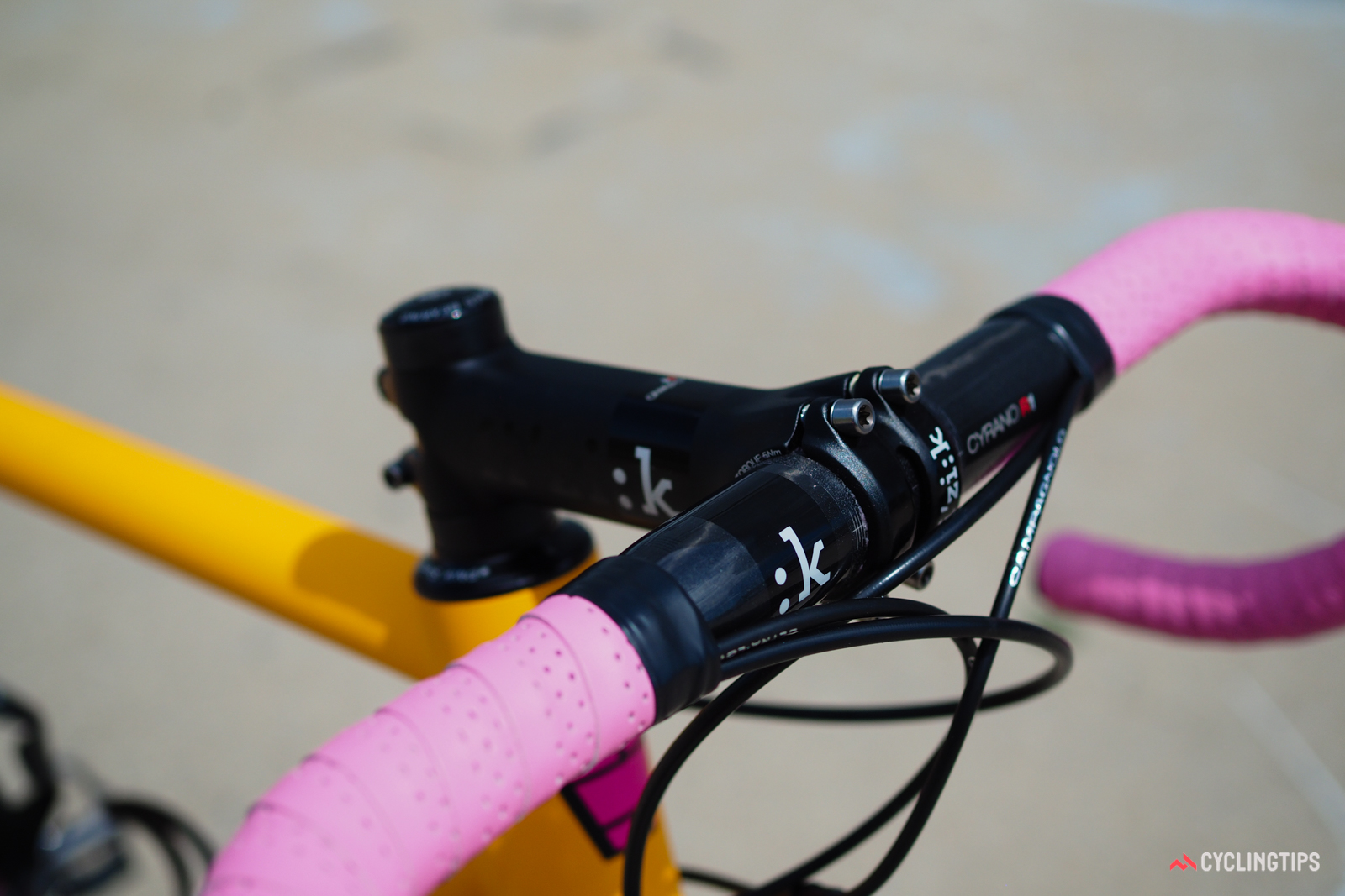 Fi'zi:k offers the Cyrano R1 carbon handlebar in several different bends to suit your preferences.