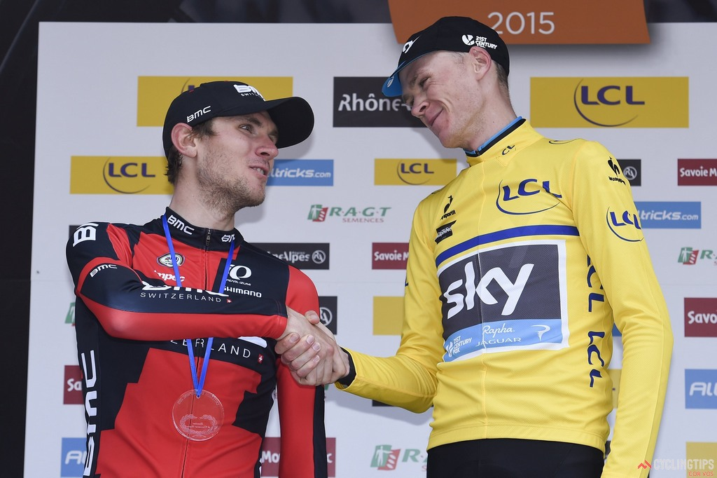 Tejay Van Garderen (BMC Racing) lost the race lead to Chris Froome (Team Sky) on Stage 8 of the 2015 Criterium du Dauphine Libere, finishing second overall by 10 seconds. Photo: VK/PN/Cor Vos.