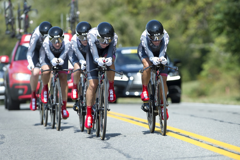 Velocio-SRAM (in its various incarnations) has won every edition of the Worlds TTT since it was reintroduced in 2012.