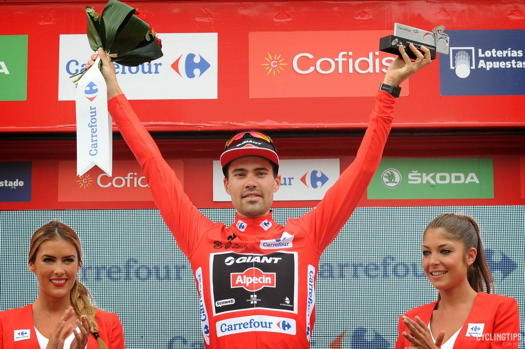 Dumoulin won two stages at the 2015 Vuelta and lead the race for six days, including into the final mountain stage.