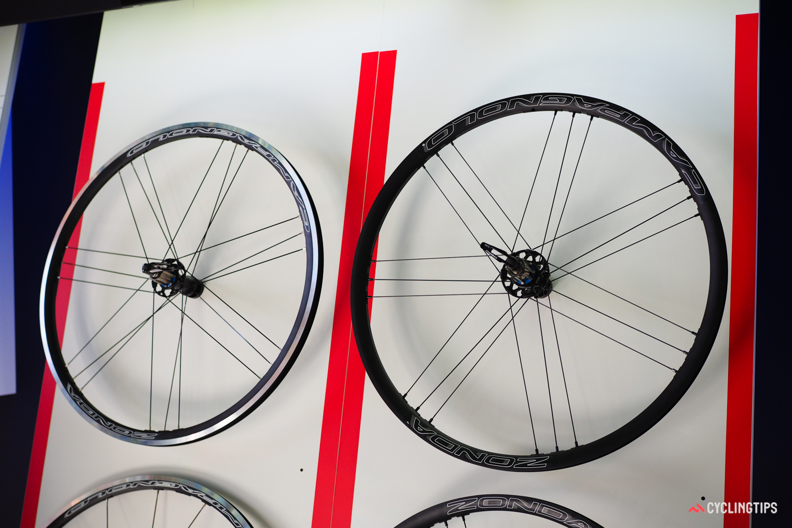 Like its sister wheel company, Fulcrum, Campagnolo has widened most of its wheel range, but only slightly so with 17mm internal widths.