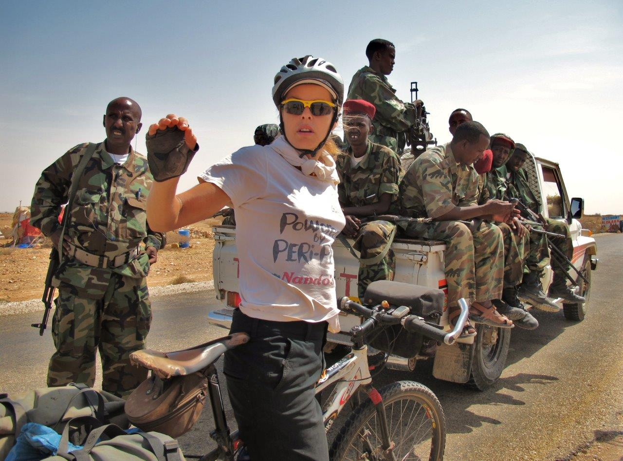 With the President's special forces, Puntland, Somalia (commander on lef...