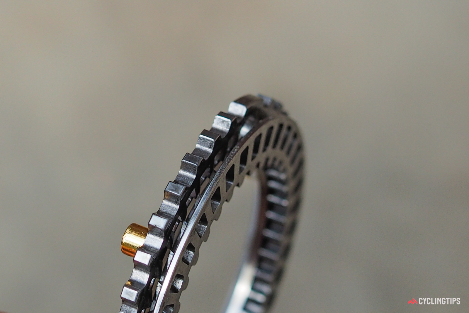 At its essence, Zipp's Axial Clutch driver is very similar to DT Swiss's Star Ratchet mechanism with two opposing steel ratchet rings - one anchored in the hub shell, and the other in the freehub body. The difference here, though, is that only one ring has ramped teeth; the other one is flat, but with cutouts into which those teeth engage.