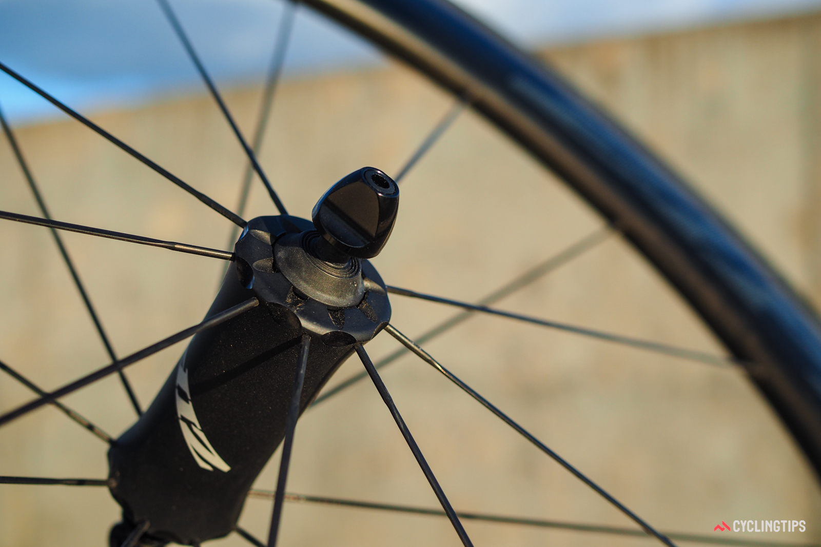 The scalloped ends on the Cognition front hub are said to help offset the outward stresses created by spoke tension for more predictable and consistent bearing bores. Unlike some older Zipp hubs, these aren't adjustable for preload (nor is any adjustment needed, according to Zipp).