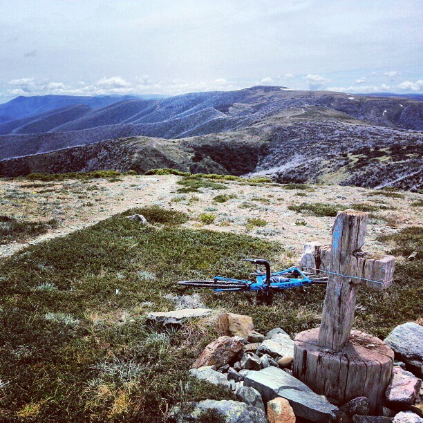 Another one of the #7Peaks got the better of me today. Hotham and I have never gotten along... (Instagram)