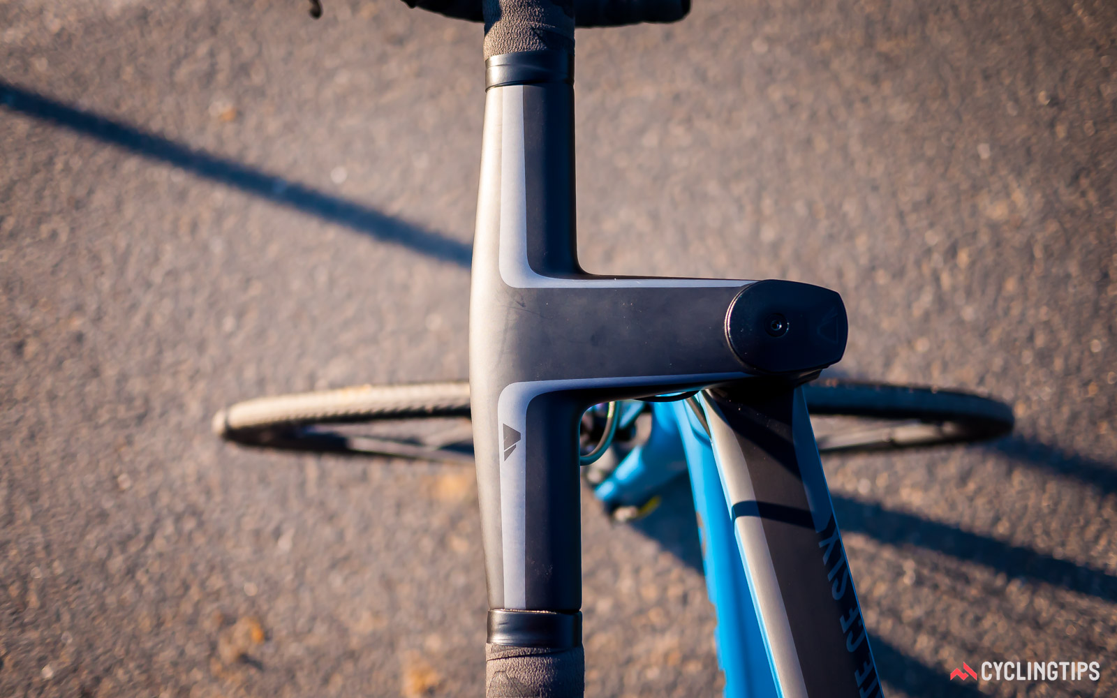 stem length dictates the steering arc for the handlebars